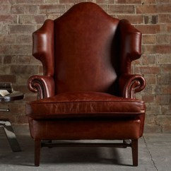 Queen Anne Wingback Chair Leather True Seating Concepts Chairs High Back Scroll More Barton Vintage