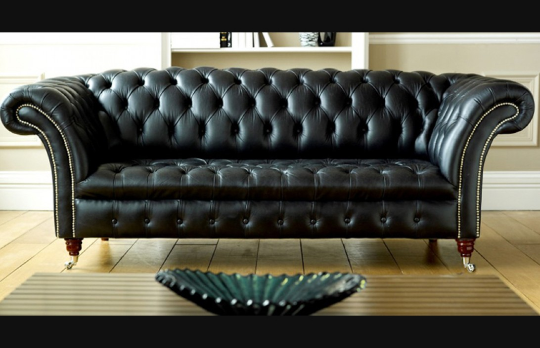 swivel chair sofa set reclining office black leather chesterfield | balston company