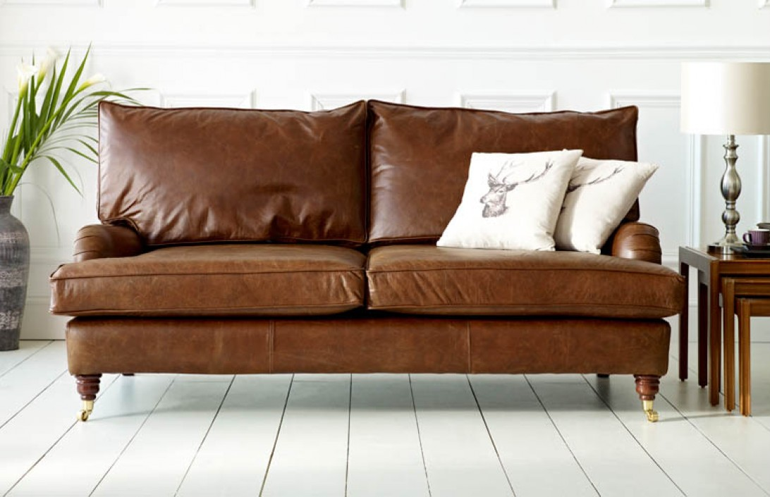 sofa 4 seater futon beds uk downton vintage leather | the chesterfield company