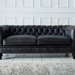 The English Sofa Company Uk Cheap Sleeper Houston Paxton Black Leather Chesterfield |