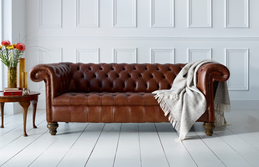 vintage leather sofa company paula deen with chaise berwick chesterfield | the