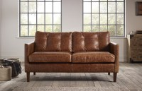 Cromer Small Leather Sofa | The Chesterfield Company