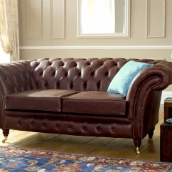 English Sofa Company Manchester Brands Small Leather Chesterfield Vintage ...