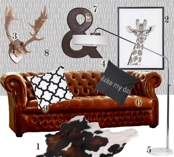 vintage leather sofa company reclining covers uk chesterfield with scandinavian décor | the ...