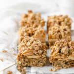 vegan apple crumble bars