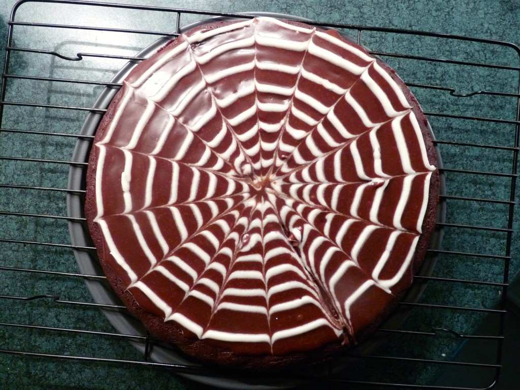 Spooky Spiderweb Brownie Slices  The Chewy Life