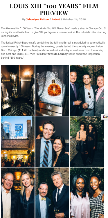 "Louis XIII ""100 Years"" Preview Party"