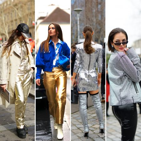 Metallizzato outfit look the chic jam fashion week gm style