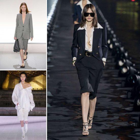 Bermuda donna 2020 tendenze moda the chic jam Givenchy Alexander Wang Saint Laurent