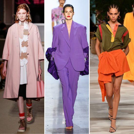 Rosa confetto ultraviolet arancio vitaminico primavera estate 2020 tendenze moda
