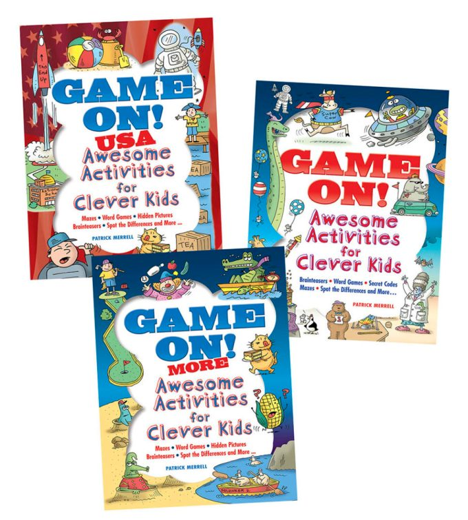 Game On Activity Book Covers