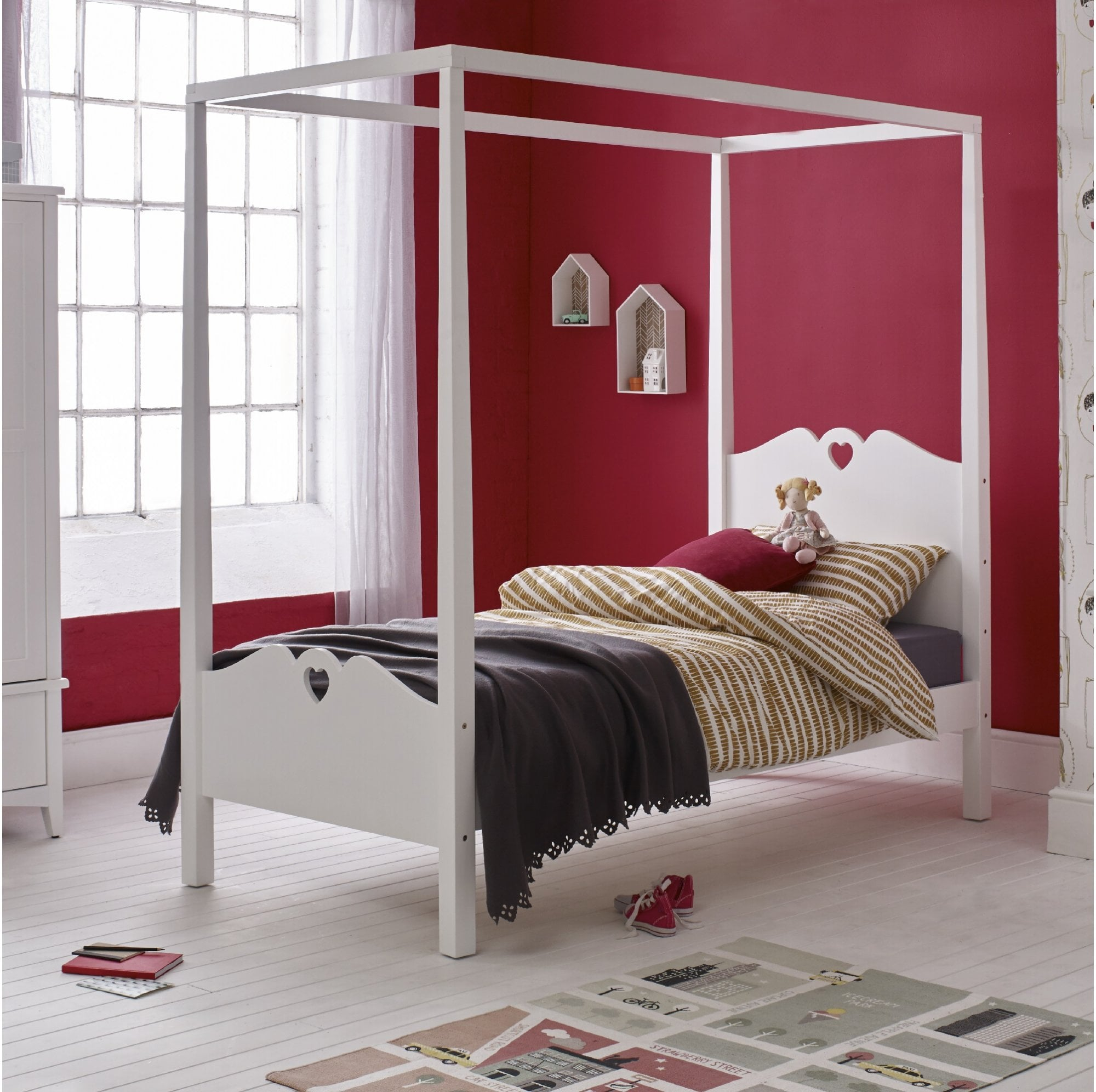holly 4 poster single bed