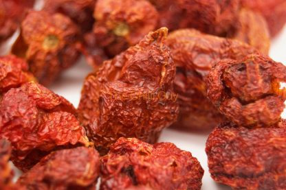 Dried Carolina Reaper Chilli Pods at The Chilli Guy farm.