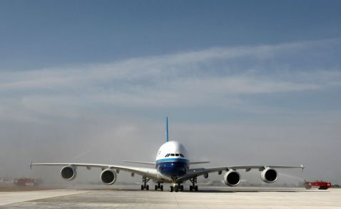 China's first Airbus A380 to fly from Beijing to Guangzhou today