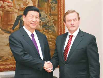 Chinese VP stressed the importance of parliamentary cooperation between China and Ireland