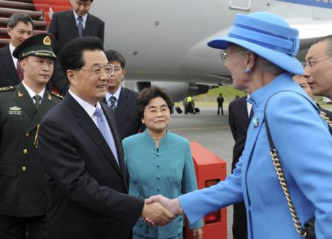 Chinese president arrives in Denmark for state visit
