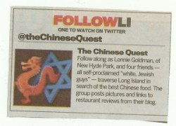 Chinese Quest Featured in Newsday