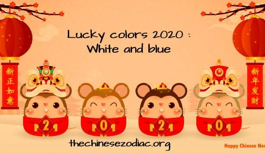 Feng Shui Lucky Colors  for 2020 for each zodiac sign