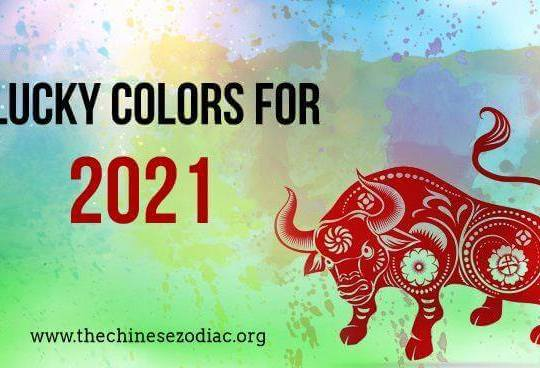Feng Shui Lucky Colors  for 2021 for each zodiac sign