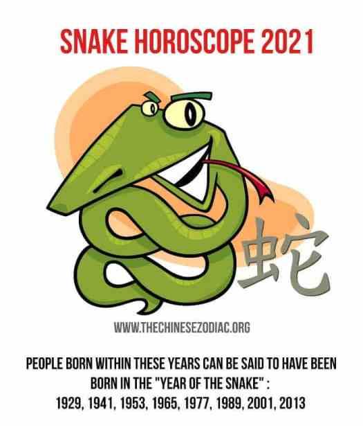 year of the snake 2021 horoscope