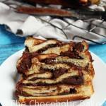 Chocolate Brioche Twist Bread