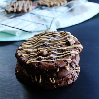 Decadent, rich and soft cookies that taste just like a dense chocolate brownie, but brought to you in cookie form with some peanut butter thrown in there too. I love these because they are easy to make and the result is pure deliciousness!