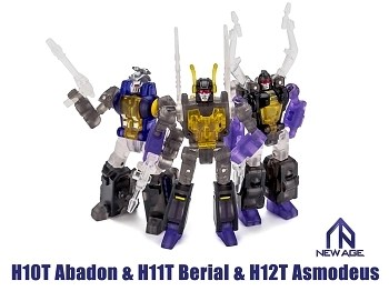 NewAge H10T ABADON, H11T BERIAL, & H12T ASMODEUS 3-Pack (Clear Version)