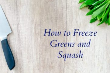 Freezing Greens and Squash