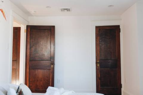 Dark Doors and White Walls