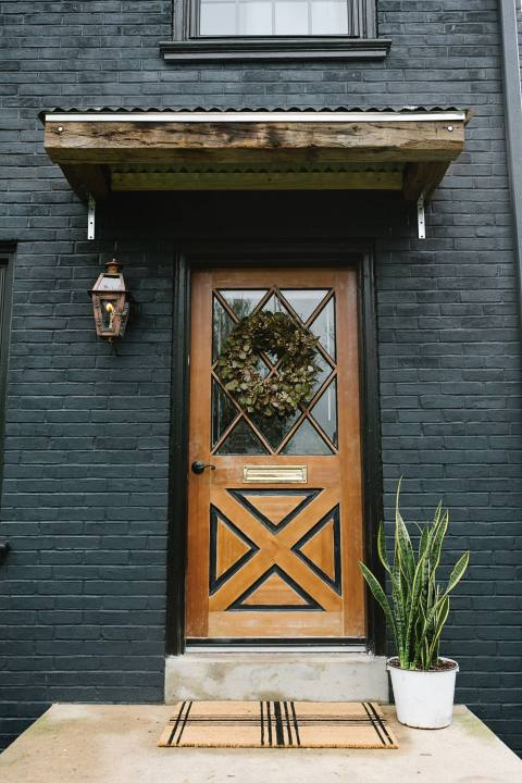 Creative Front Door in Lancaster City Home