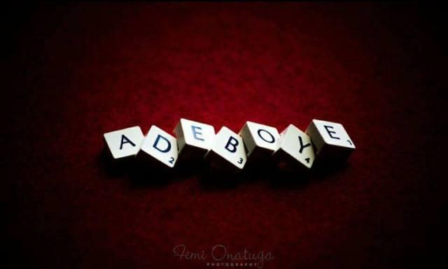 The name adeboye