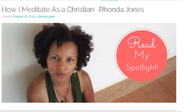 Read my Christian Meditation Spotlight