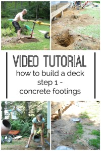 {Video} How to Build a DIY Deck - Concrete Footings - The ...