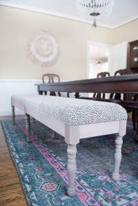 DIY Upholstered Dining Bench - The Chronicles of Home
