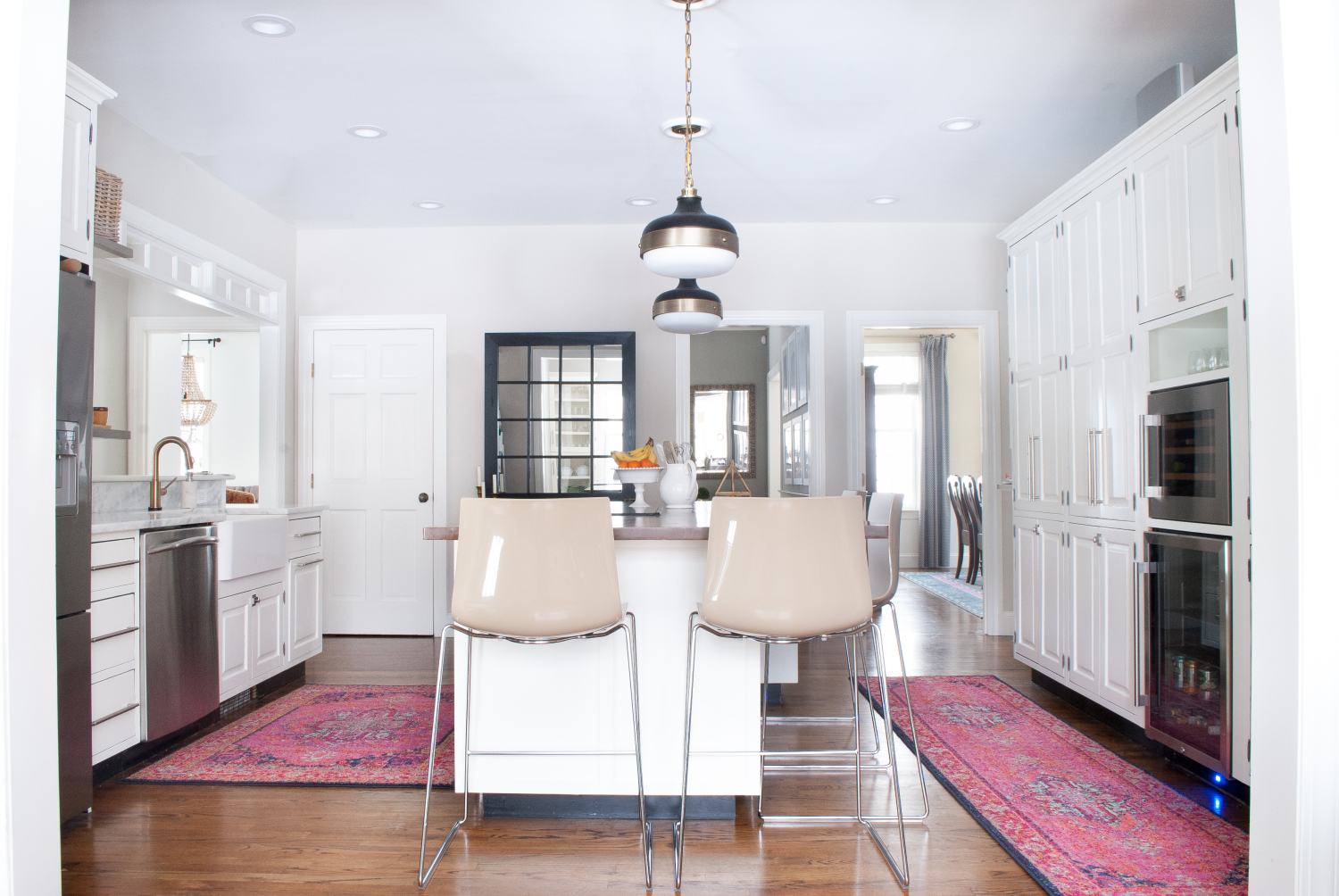kitchen rugs samsung suite vintage style and why i didn t go actual get the look of a vibrant rug in without price tag