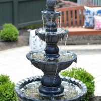 Paver Patio with a Fountain - The Chronicles of Home