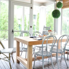 Screen Porch Lounge Chairs Dental Assistant Diy Chunky Farmhouse Table The Chronicles Of Home
