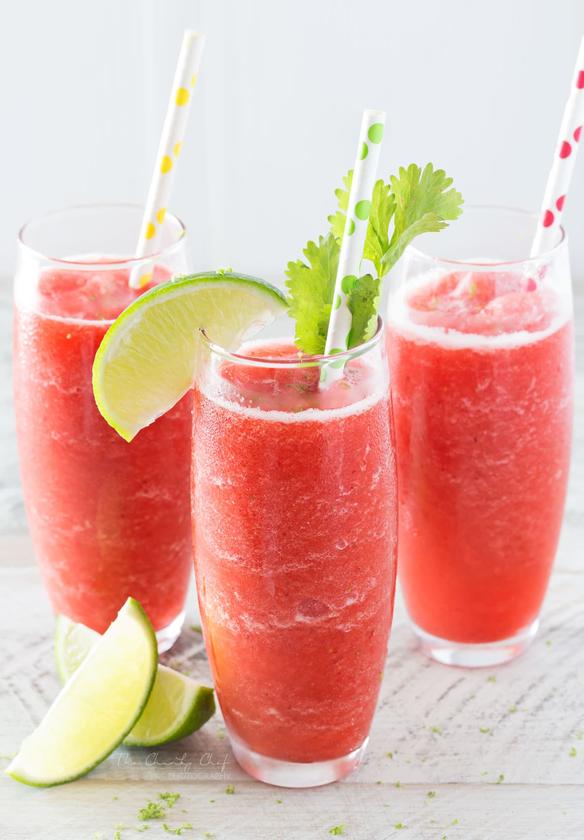 Boozy Strawberry Limeade Slushies  The Chunky Chef