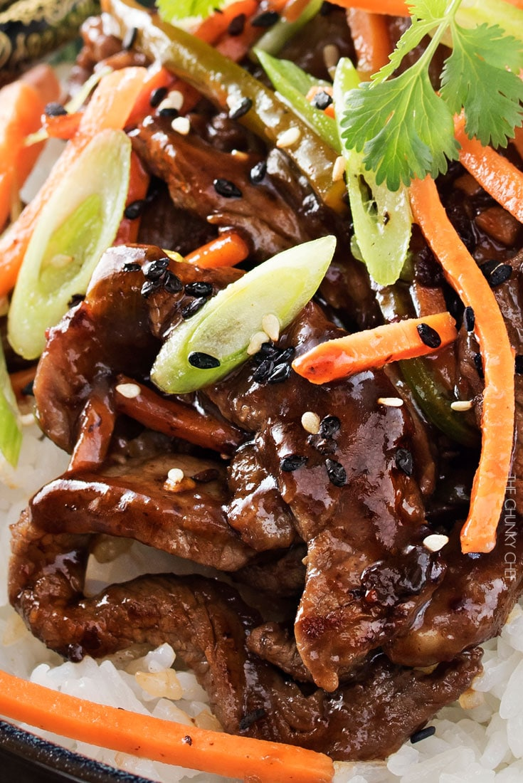 30 Minute Spicy Ginger Szechuan Beef  The Chunky Chef