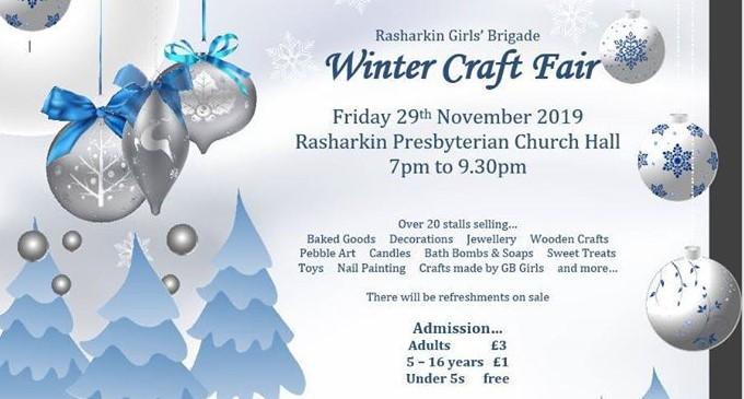 Winter Craft Fair At Rasharkin Presbyterian Church The Churchpage