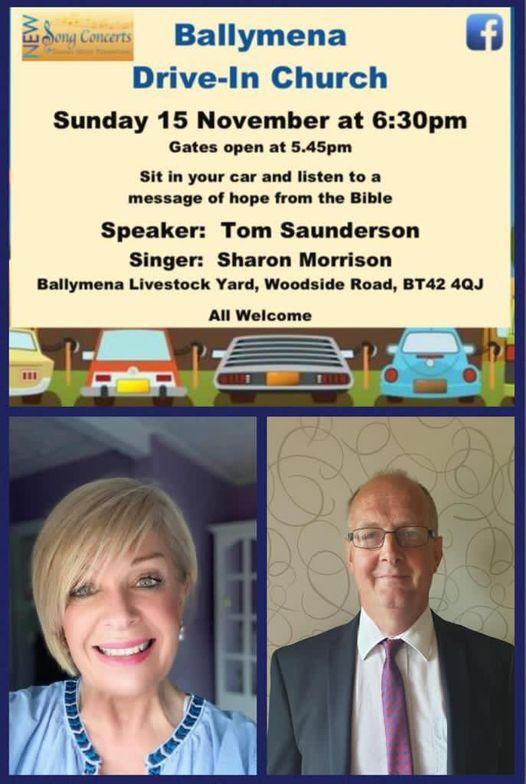 Drive-In Church continues - Ballymena Livestock Yard on Sunday 15th November 2020