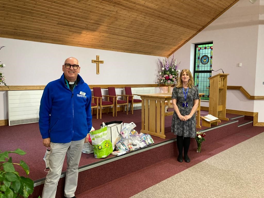 Connor Mothers' Union provide wash bags to hospitals