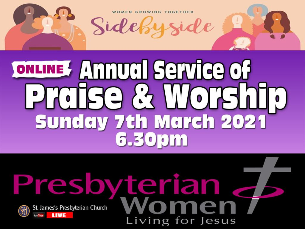 PW Online Praise and Worship Service - St James's Presbyterian Church, Ballymoney