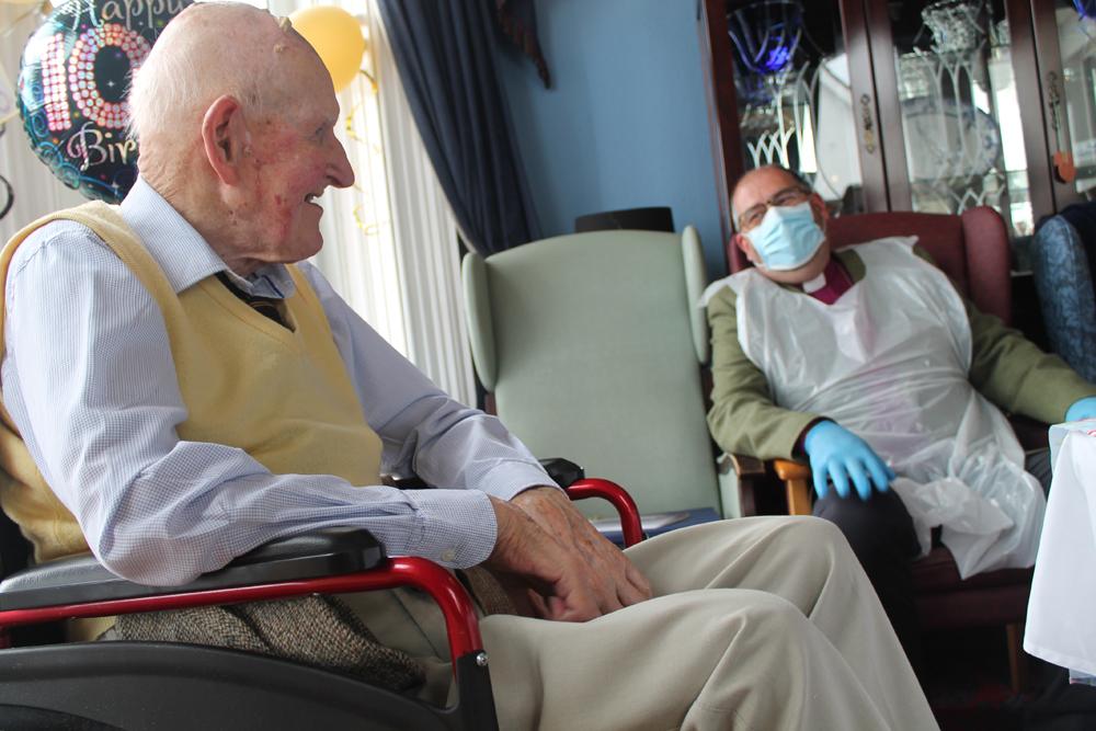St Thomas' Church Belfast parishioner, Clem Shaw, celebrates 100th birthday