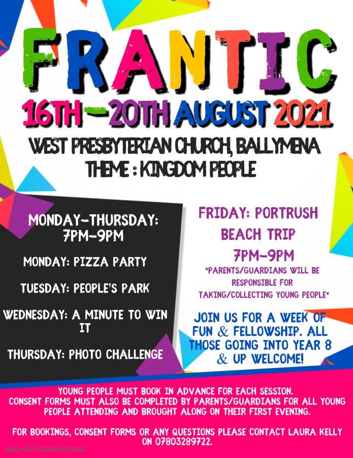 FRANTIC 2021 at West Church, Ballymena -