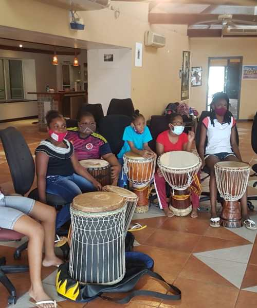 Campers Learn To Communicate Through Drumming