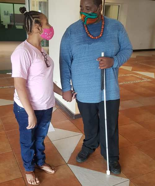 Campers Learn To Communicate With Visually Impaired Persons