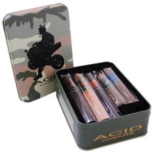 Acid Cigar Sampler https://www.thecigarstore.com/Cigar-Samplers/samplers/Acid-Collectors-Tin-Sampler.htm