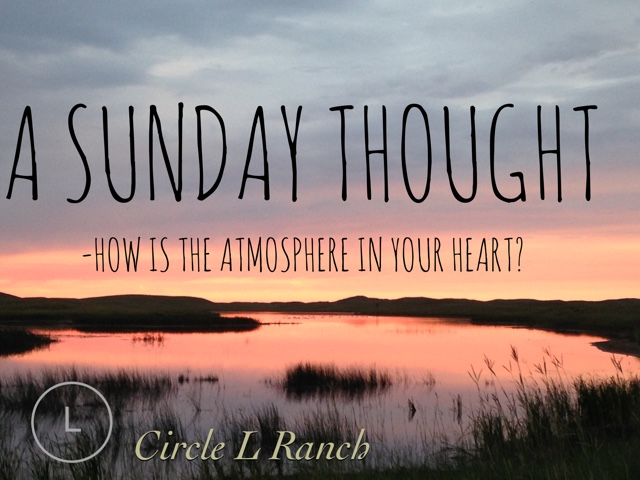 How Is The Atmosphere In Your Heart?