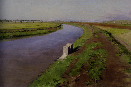 Caillebotte: Banks of Canal near Naples.
